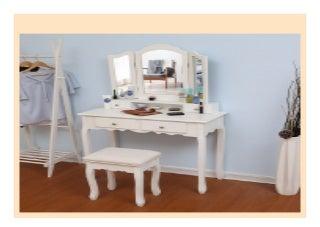 Best seller Bedroom Makeup Vanity with 3 Mirrors 4 Drawers and Stool Bedroom Sets Vanity Table 90 X 40 X 145cm