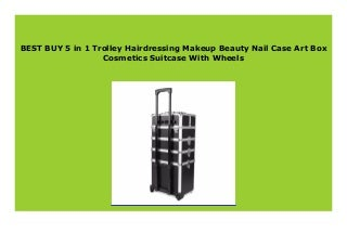 DISCOUNT 5 in 1 Trolley Hairdressing Makeup Beauty Nail Case Art Box Cosmetics Suitcase With Wheels