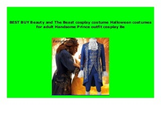 HOT SALE Beauty and The Beast cosplay costume Halloween costumes for adult Handsome Prince outfit cosplay Be