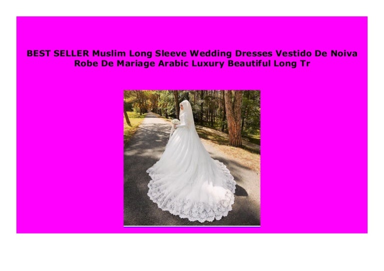 Hot Sale Muslim Long Sleeve Wedding Dresses Vestido De Noiva Robe De,Short White Plus Size Wedding Dresses