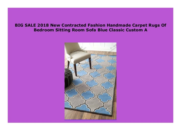 Best Seller 2018 New Contracted Fashion Handmade Carpet Rugs Of Bedr