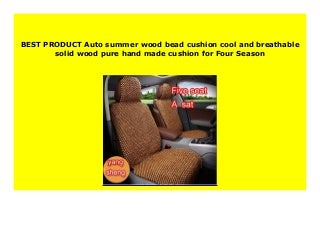 Big Sale Auto summer wood bead cushion cool and breathable solid wood pure hand made cushion for Four Season