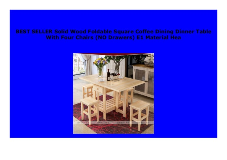 Big Sale Solid Wood Foldable Square Coffee Dining Dinner Table With