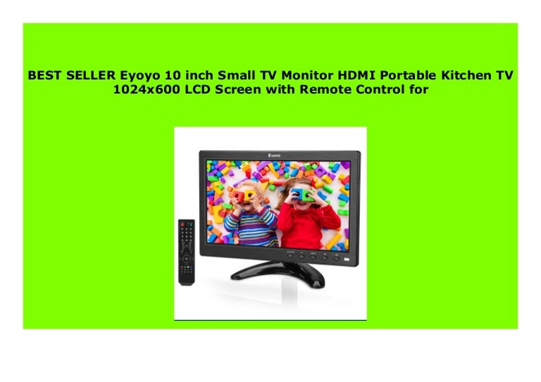 Hot Sale Eyoyo 10 Inch Small Tv Monitor Hdmi Portable Kitchen Tv 102