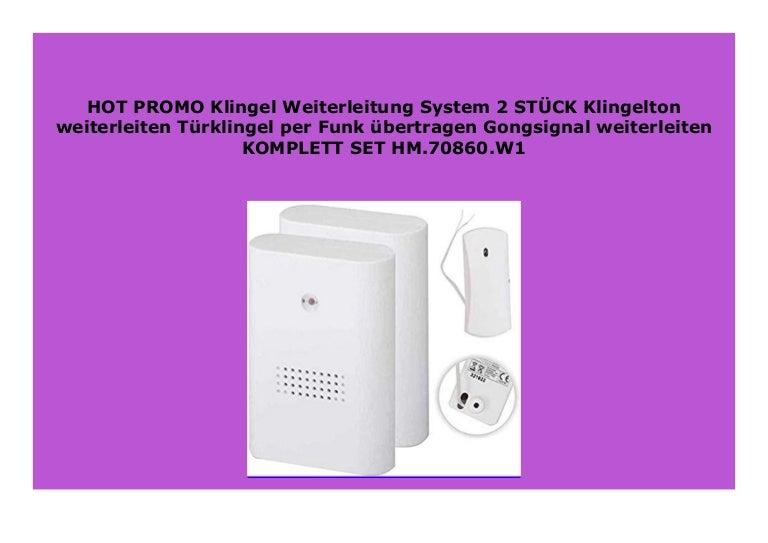 Klingel Weiterleitung System Klingelton weiterleiten T/ürklingel per Funk /übertragen Gongsignal weiterleiten KOMPLETT SET HM.70860.W