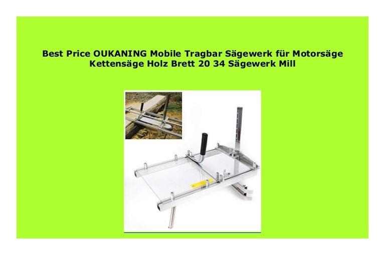 """Mobile Tragbar Sägewerk Für Motorsäge Kettensäge Holz Brett 20/""""Sägewerk Mill Neu"""