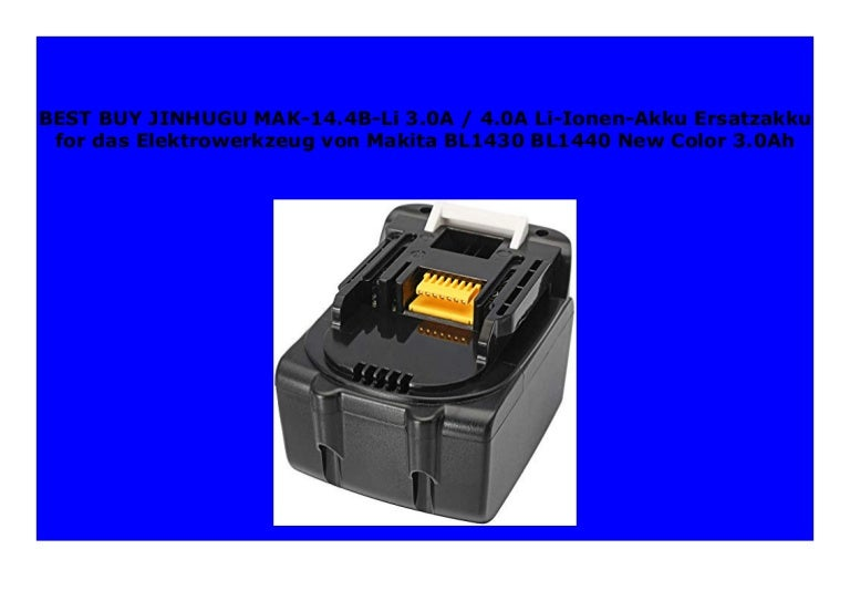 2,0Ah Li-Ion BL 1430 Ersatzakku BL1430 Makita Akku 14,4V