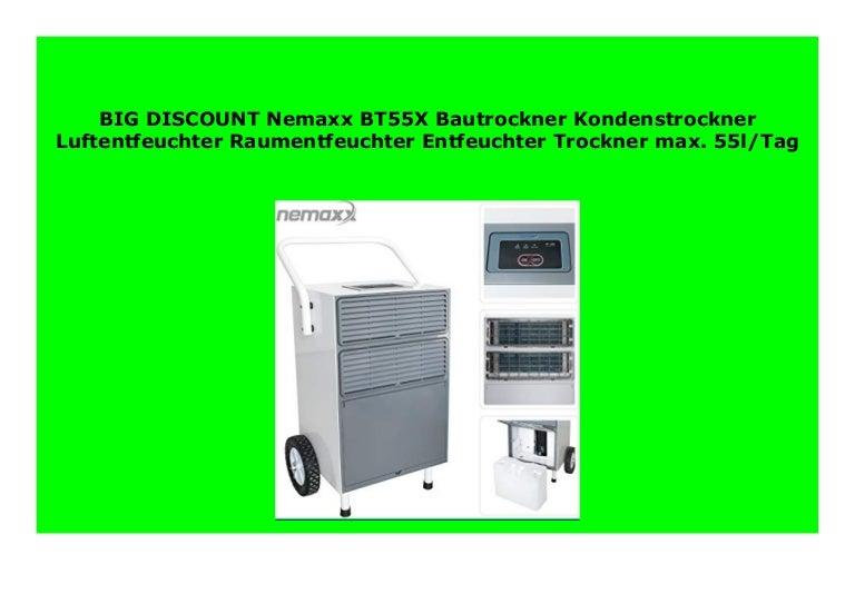 Nemaxx BT55X Bautrockner Kondenstrockner Raumentfeuchter Luftentfeuchter bis 55L