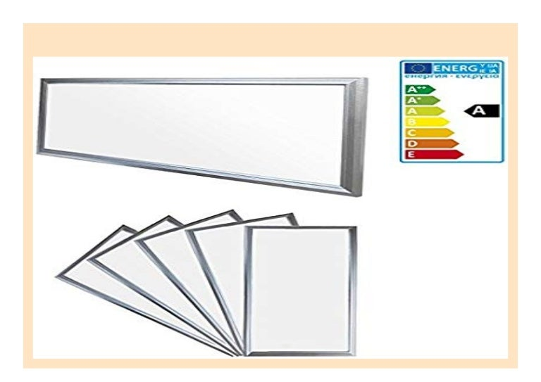 5 x LED Panel Ultraslim Deckenleuchte