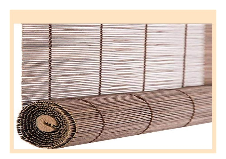 Color : #1, Size : 50x100CM ZEMIN Bambus Rollo Bambusrollo Innen//Au/ßen Installieren Anpassbar Schatten Wasserdicht Handhebend 3 Farben 22 Gr/ö/ßen