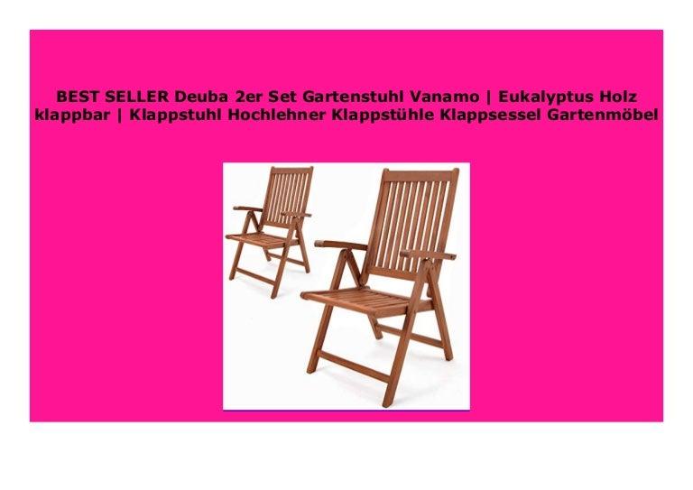 Best Price Deuba 2er Set Gartenstuhl Vanamo Eukalyptus