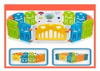 SELL Baby Vivo Laufgitter Laufstall Baby Absperrgitter Krabbelgitter Schutzgitter f�r Kinder aus Kunststoff mit T�r und Spielzeug Colors XL erweiterbar 497