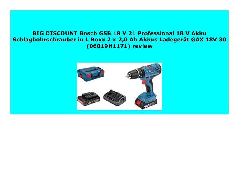 Bosch GSB 18 V-21 18 V Li-Ion Akku Schlagbohrschrauber in L-Boxx 3,0 Ah Akku