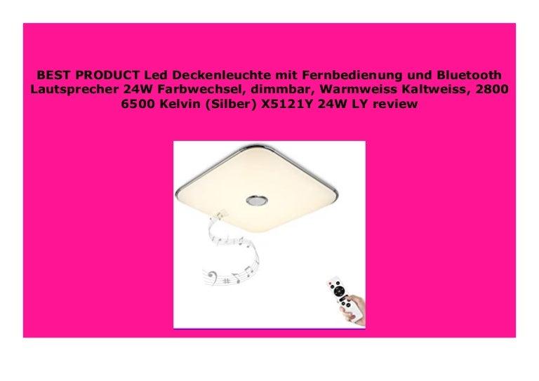 Deckenleuchte LED silber Warmweiß dimmbar