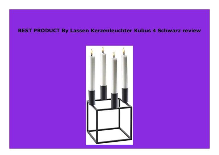 by Lassen Kerzenleuchter Kubus 4 Schwarz
