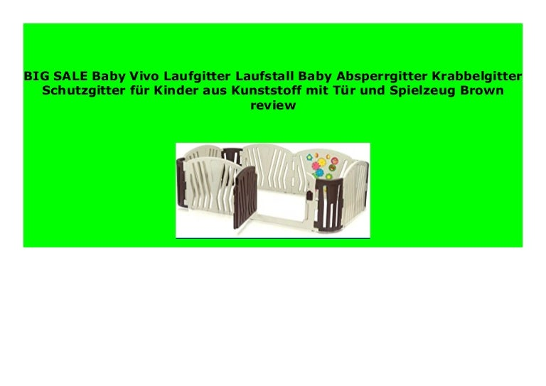 Laufgitter Laufstall Kinder Absperrgitter Krabbelgitter Schutzgitter Baby Vivo