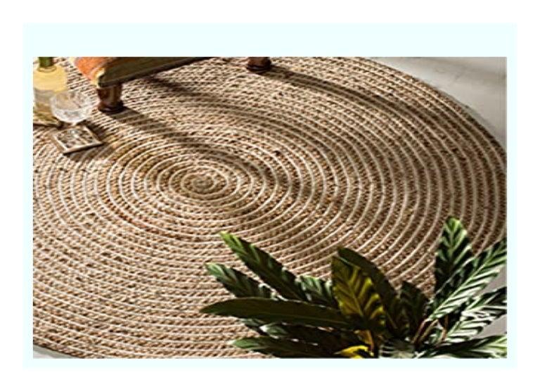 Sell The Indian Arts Fair Trade Rund 100 Geflochtenen Jute Teppich