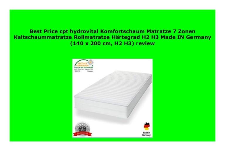 Best Buy Cpt Hydrovital Komfortschaum Matratze 7 Zonen