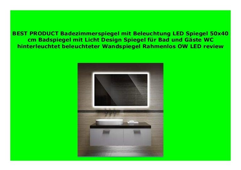 Badezimmerspiegel Hinterleuchtet.Big Sale Badezimmerspiegel Mit Beleuchtung Led Spiegel 50x40 Cm B