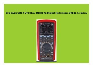 Best seller UNI T UT181A/ MIE0171 Digital Multimeter UT181 A review 974