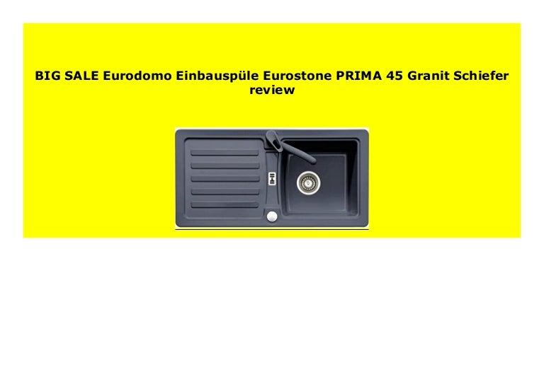 Eurodomo Einbausp/üle Eurostone PRIMA 45 Granit Grau