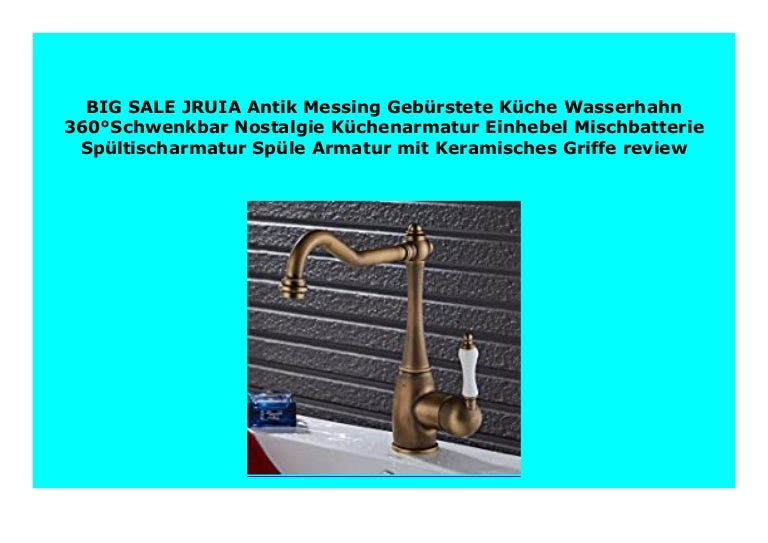 SELL JRUIA Antik Messing Geb rstete K che Wasserhahn 360 ...