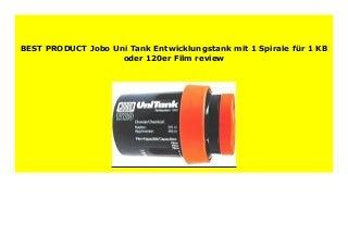 Best seller Jobo Uni Tank Entwicklungstank mit 1 Spirale f�r 1 KB oder 120er Film review 158