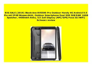 Best Price (2019) Blackview BV5500 Pro Outdoor Handy 4G Android 9.0 Pie mit IP68 Wasserdicht, Outdoor Smartphone Dual SIM 3GB RAM 16GB Speicher, 4400mAh Akku, 5.5 Zoll Display (NFC/GPS/Face ID/WiFi) Schwarz review 318