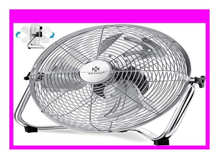 3-Stufen Tischventilator Bodenventilator Chrom Silber stufenlos neigbarer Ventilatorkopf 30cm Ventilator in Chrom Standventilator Kesser/® Windmaschine Retro Stil robuster Stand