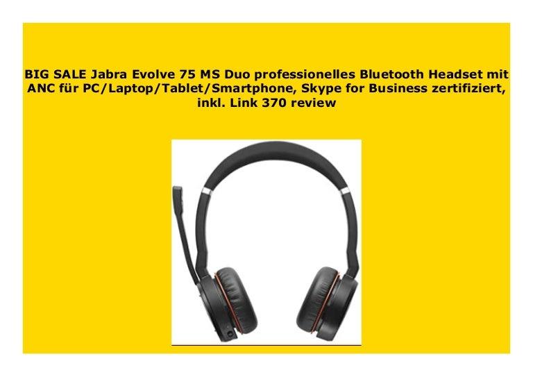Hot Sale Jabra Evolve 75 Ms Duo Professionelles Bluetooth Headset Mit