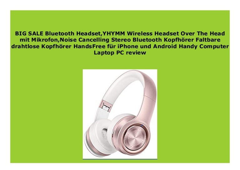 Big Sale Bluetooth Headset Yhymm Wireless Headset Over The Head Mit M