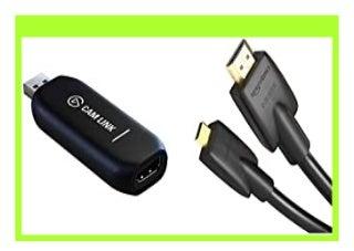 HOT SALE Elgato Cam Link 4K Live Streamen und Aufnehmen mit DSLR, Action Cam oder Camcorder in 1080p60 oder 4K bei 30 fps, USB 3.0 AmazonBasics Hochgeschwindigkeits Micro HDMI Kabel, mit RedMere review 931
