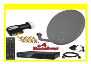 BEST BUY HB DIGITAL SAT Anlage x1F4E1 60cm Spiegel Sch�ssel Anthrazit 10133 4x HD 350s Sat Receiver 230/12 V 10133 UHD Quad LNB 4 Teilnehmer 10133 Stecker Gratis dazu im SET 128162 Full HD f�hig 128162 zum Empfang von DVB S/S2
