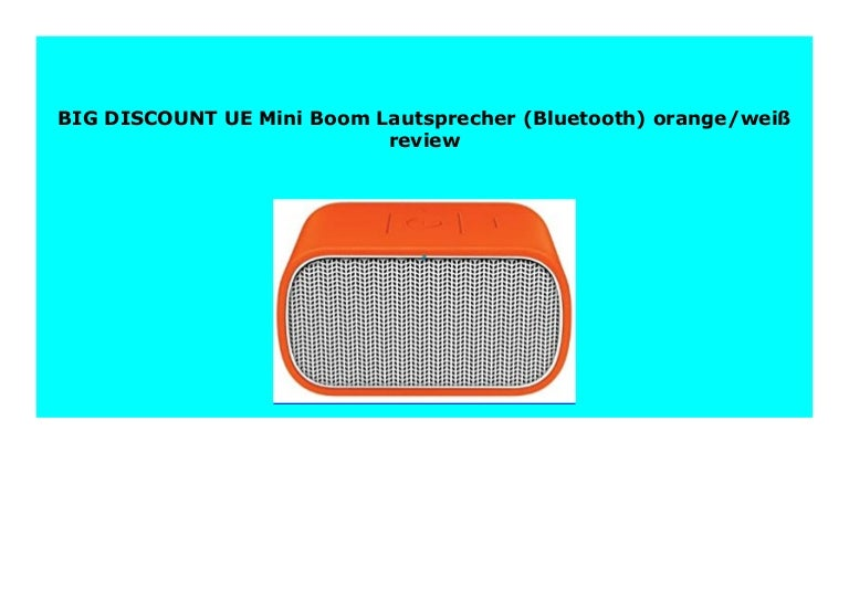 BEST BUY UE Mini Boom Lautsprecher (Bluetooth) orange/wei  review 5