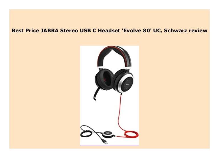 New Jabra Stereo Usb C Headset Evolve 80 Uc Schwarz Review 327