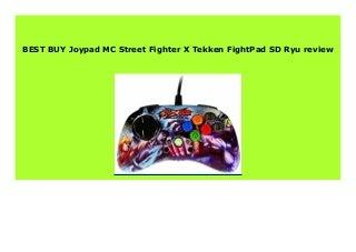HOT SALE Joypad MC Street Fighter X Tekken FightPad SD Ryu review 529