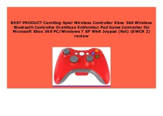HOT PROMO CamKing Spiel Wireless Controller Xbox 360 Wireless Bluetooth Controller Drahtlose Entfernten Pad Game Controller f�r Microsoft Xbox 360 PC/Windows 7 XP Whit Joypad (Rot) (SWCR 2) review 487