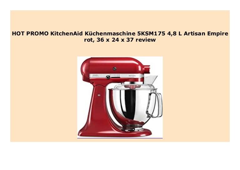 New Kitchenaid K Chenmaschine 5ksm175 4 8 L Artisan Empire Rot 36 X