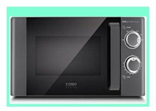 Best Price CASO M20 Ecostyle Design Mikrowelle, Solomikrowelle mit 700 Watt, manuelle und leichte Bedienung, ca. 20 Liter Garraum, Auftaufunktion, Glasdrehteller, 6 Leistungsstufen, Timer review 784