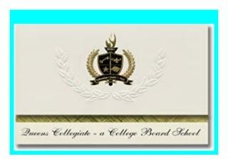 HOT PROMO Signature Announcements Queens Collegiate � A College Board School (Jamaica, NY) Abschlussank�ndigungen, Pr�sidentialit�tsgrundpaket mit goldfarbenen und schwarzen Metallfolienversiegelungen review 828