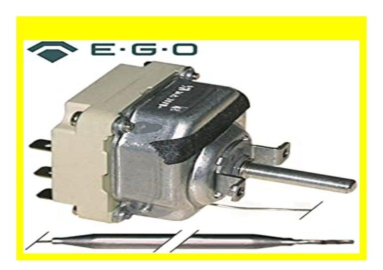 EB12+12 EB8 Temperatur 192/°C 3x200mm 3x23mm EM12+12 max EM20 EM12 EGO 55.34032.800 Thermostat f/ür Fritteuse Elframo EB12