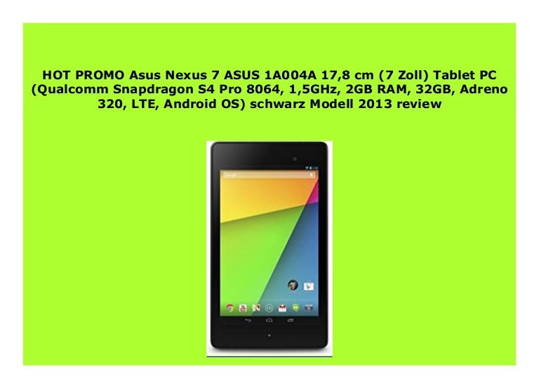 Best Buy Asus Nexus 7 Asus 1a004a 17 8 Cm 7 Zoll Tablet Pc Qualcom