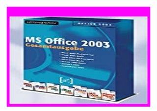 BEST BUY Gesamtausgabe MS Office 2003 Lernprogramme. 7 CD ROMs f�r Windows Mit Digitalen Seminaren zu Word 2003, Excel 2003, Access 2003, PowerPoint 2003, Outlook 2003 review 681