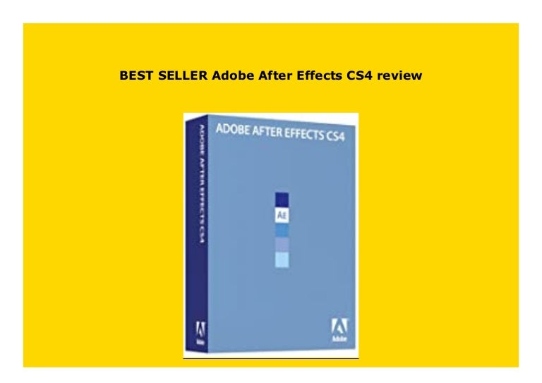 After Effects Cs4 For Sale
