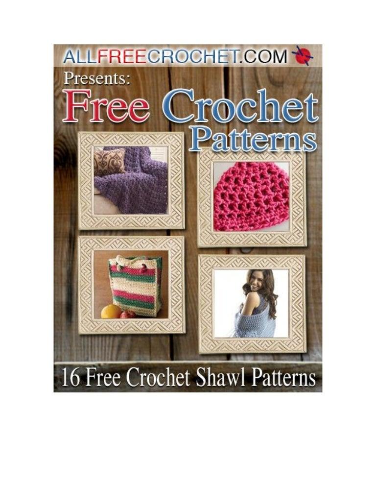 16 free crochet shawl patterns e book
