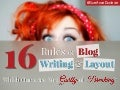 16 Rules For Blog Writing And Layout