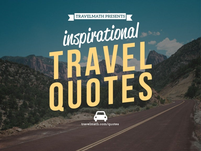 travel quotes to inspire you to hit the road