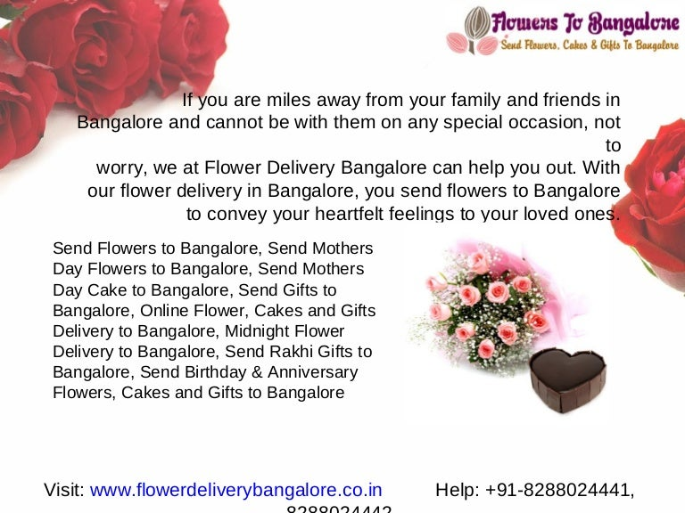 Send Online Flowers To Bangalore