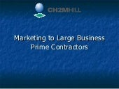 Marketing to Large Prime Contractors