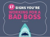 17 Signs You're Working For A Bad Boss